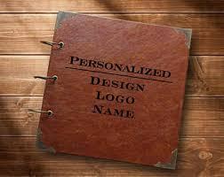 leather photo album personalized leather photo album etsy