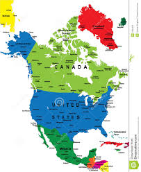 Map Of Nirth America by Political Map Of North America Stock Images Image 7065404