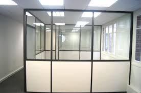 cloison verre bureau cloison de bureau semi vitrée meilleur de espace cloisons alu ile