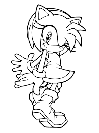 coloring pages sonic amy rose coloring pages amy coloring pages amy rose in sonic