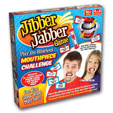 jibber jabber party game the hilarious mouthpiece game for
