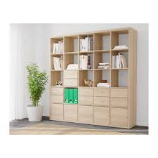 libreria kallax ikea kallax libreria scaffale con 10 accessori effetto rovere