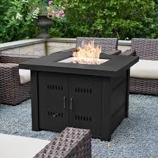 belleze 40 000btu outdoor patio propane gas fire pit table w fire