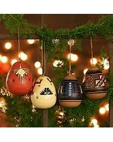 savings ceramic ornaments choir set of 7 peru