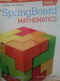 amazon com common core springboard mathematics consumable