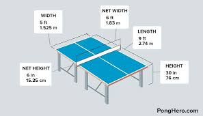 ping pong table dimensions inches pong table dimensions