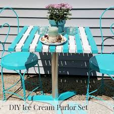 ice cream parlor table and chairs set how to create an ice cream parlor table you will need and love