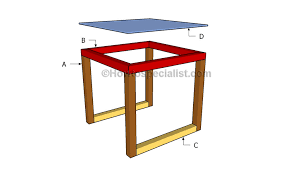 Build Outdoor End Table by Glass End Table Plans Howtospecialist How To Build Step By
