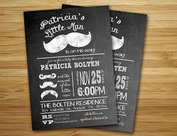 mustache baby shower invitation little man mustache boy baby