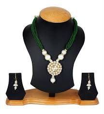 coloured pearls necklace images Jewellery expert green colour pearls necklace set for women at rs jpg