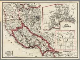 Map Of California Adventure Weber U0027s Map Of Santa Cruz County California David Rumsey