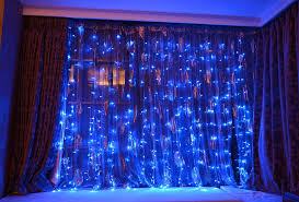 Curtain Lights Amazon by Amazon Com Fefelightup Blue Led Party Lights 9 8ft9 8ft 304 Leds