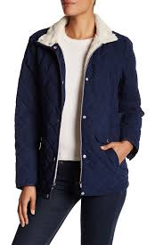 nautica long sleeve quilted jacket nordstrom rack