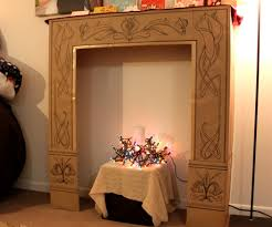 new fireplace made out of cardboard best home design best to