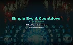 simple event countdown html template unitetheme