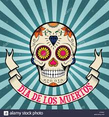 dia de los muertos sugar skulls day of the dead dia de los muertos sugar skull on vintage stock