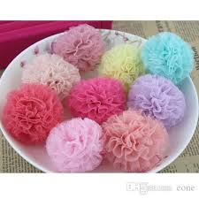 tulle pom poms 5 5cm satin tulle pom poms diy hair shoe bag brooch