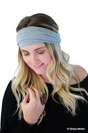 boho headbands boho wrap hair band fashion headband gunmetal gray