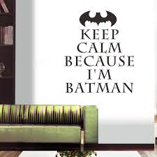 Wall Stickers And Tile Stickers by Keep Calm Because I U0027m Batman Quotes Wall Stickers For Kids Rooms