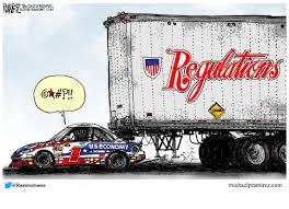 cartoon race car race car economy michael p ramirez
