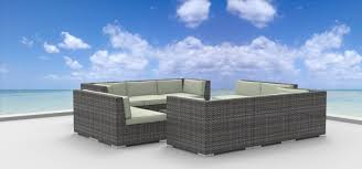 Newport Wicker Patio Furniture Urban Furnishing Bermuda 11pc Modern Wicker Rattan Patio