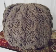 Ottoman Knitted 18 Knit Pouf Patterns Guide Patterns