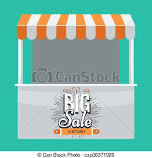 Awning Logo Vector Illustration Of Vector Store Booth With Awning And Big Sale