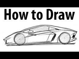 lamborghini car drawing how to draw a lamborghini aventador sketch it
