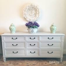 Hand Painted Bedroom Furniture by Lilyfield Life Hand Painted French Drawers In Pale Taupe
