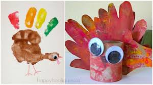 handprint turkey crafts for thanksgiving happy hooligans