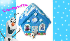 frozen gingerbread house diy disney frozen inspired holiday