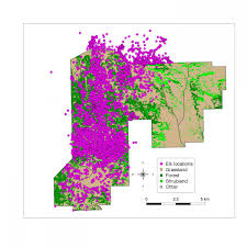 Elk Population Map Population Dynamics And Distribution Of Elk At Wind Cave National