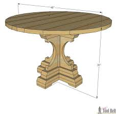 Woodworking Plans Round Coffee Table by Farmhouse Style Round Pedestal Table Her Tool Belt