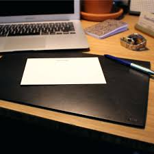 Burgundy Desk Pad Articles With Dacasso Black And Burgundy Leather Desk Pad With
