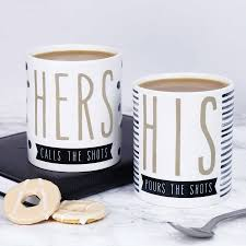 his and hers funny mug pair by paper plane notonthehighstreet com