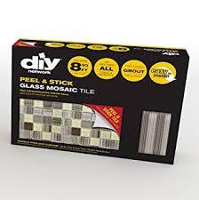 Amazoncom Peel  Stick Tiles  Ft Backsplash Kit Amazon Dark - Peel and stick backsplash kits