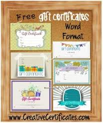 here is a collection of 10 free gift certificate templates that