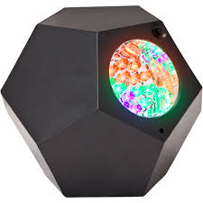 gemmy geo strobe show led multi color leds black casing