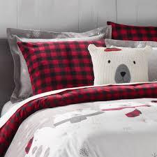 duds polar bears flannel comforter set