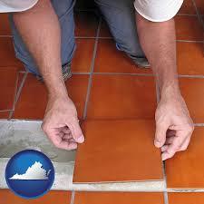 Laying Ceramic Floor Tile Ceramic Tile Contractors In Virginia