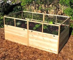 raised vegetable garden bed with fence gardening pinterest