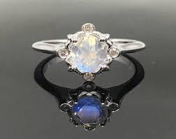 moonstone engagement rings moonstone engagement ring etsy