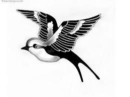 Bird Flying Tatoo Flying Blackbird Image Free Designs Black White Bird Flying