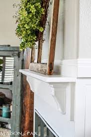 Make A Fireplace Mantel by How To Build A Simple Mantel Maison De Pax