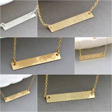 personalized silver bar necklace sterling silver bar necklace personalized engraved bar necklace