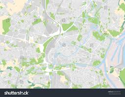 Strasbourg France Map Vector City Map Strasbourg France Stock Vector 356531561