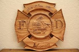 custom signs and plaques raisin grain custom woodworks firefighter and law enforcement signs