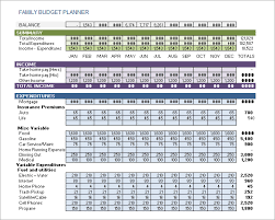 Budget Template Excel Sle Family Budget 10 Documents In Pdf Excel Word