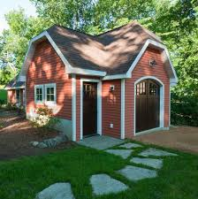 gambrel garage shed traditional with bark mulch traditional garage