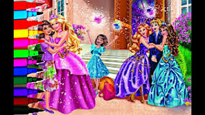 barbie coloring book pages barbie disney princess kids brilliant